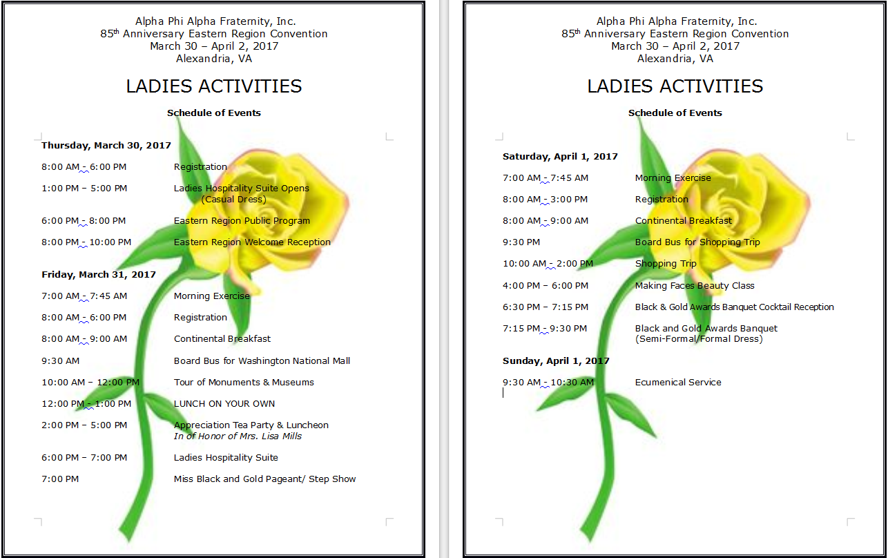 ladies activities